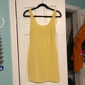 yellow and white urban outfitters dress